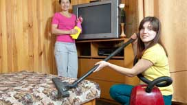 Face the challenge – student's room cleaning
